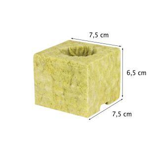 Steinwolle 7,5x7,5x6,5 cm